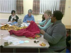 Sewing circle in action