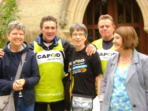 Fred Uttley (left) and Mark Brown (right) meet CAFOD Parish Contacts