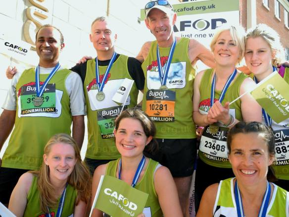 Members of eam CAFOD after the Great North Run 2014