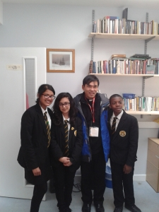 Fr Pius with Kesna, Greta and Kevin