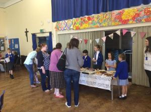 Cake sale in action