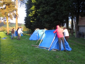 Building temporary shelters