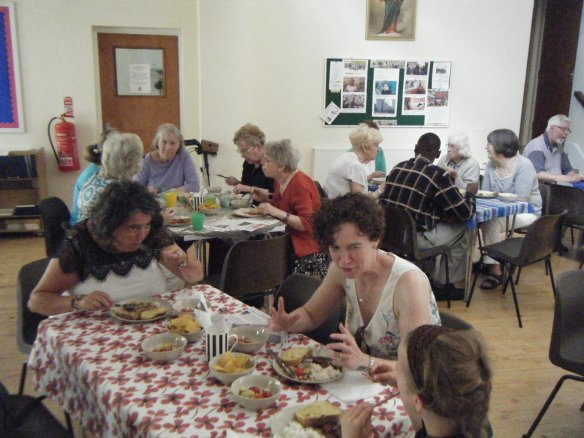Parishioners enjoy their lunch