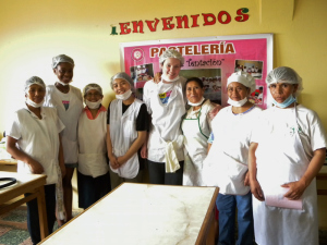 Michelle (second left) with women from Solidaridad